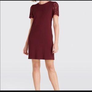 Draper James Cranberry Cabernet Dress Large Lace